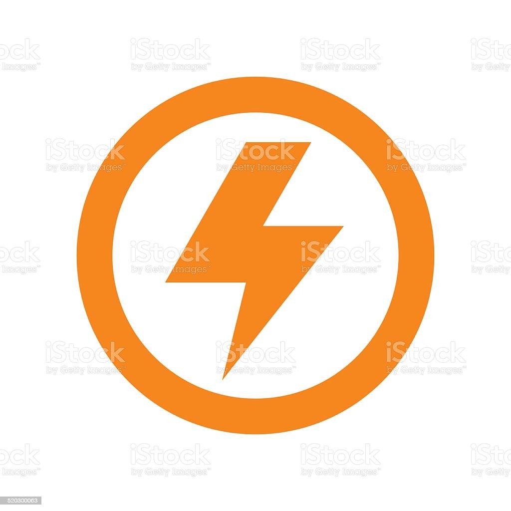 Lightning bolt sign vector art illustration