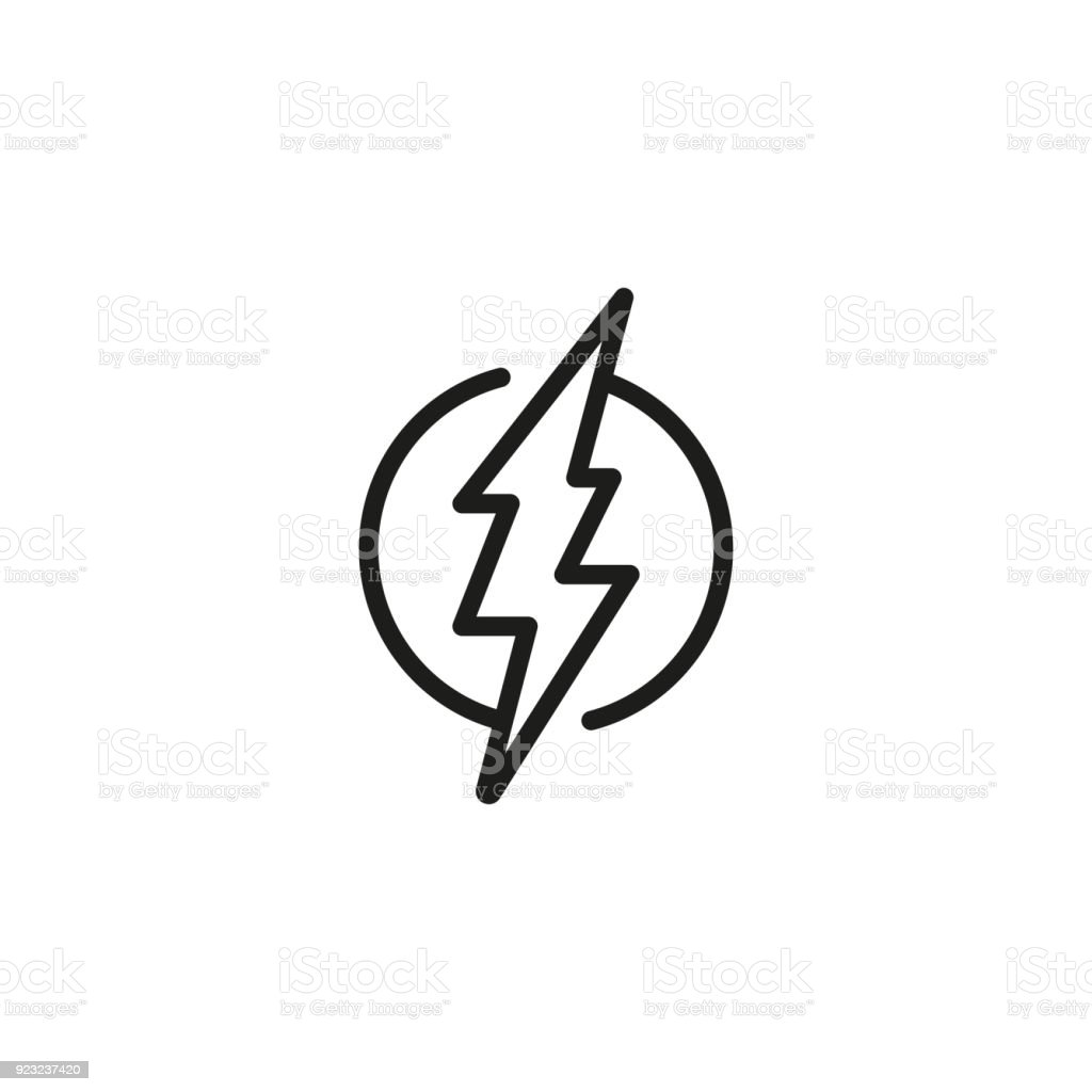 Lightning Bolt Symbol In Circle Icon Stock Vector Art  for Lightning Logo In Circle  111ane