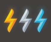 Lightning bolt symbols