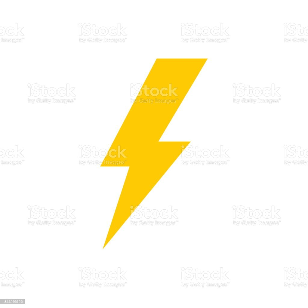 Lightning Bolt Vector Icon Stock Vector Art & More Images of Bolt ...