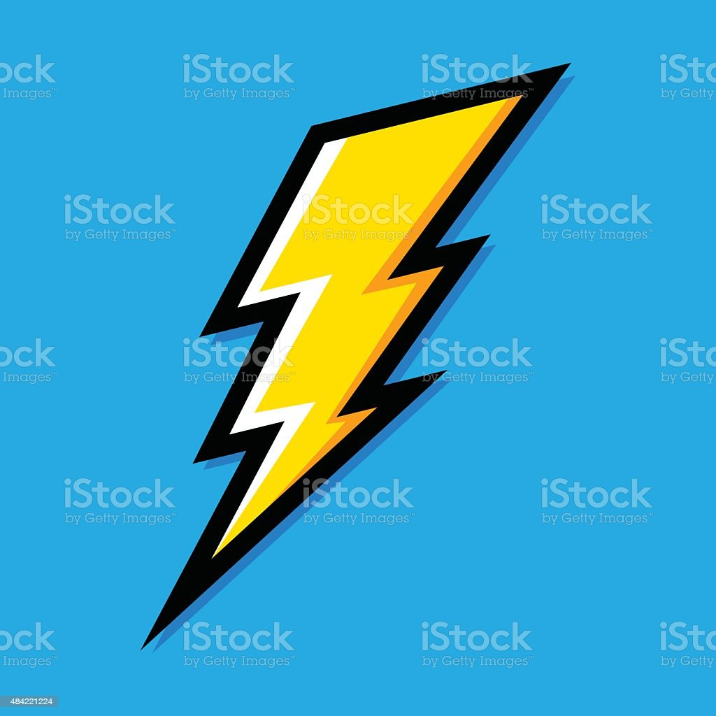 Lightning bolt vector art illustration