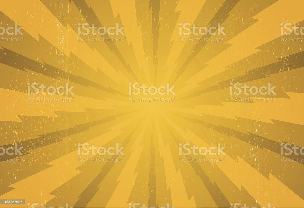 lightning burst (one credit file) royalty-free stock vector art