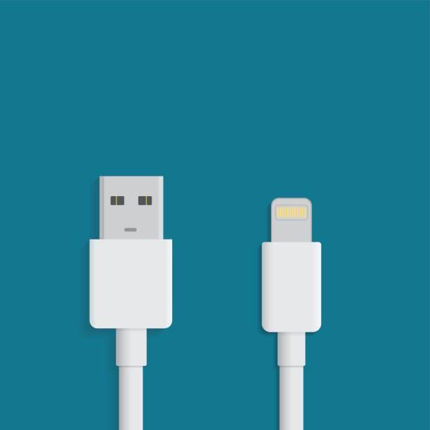 Cable Lightning USB - ilustración de arte vectorial