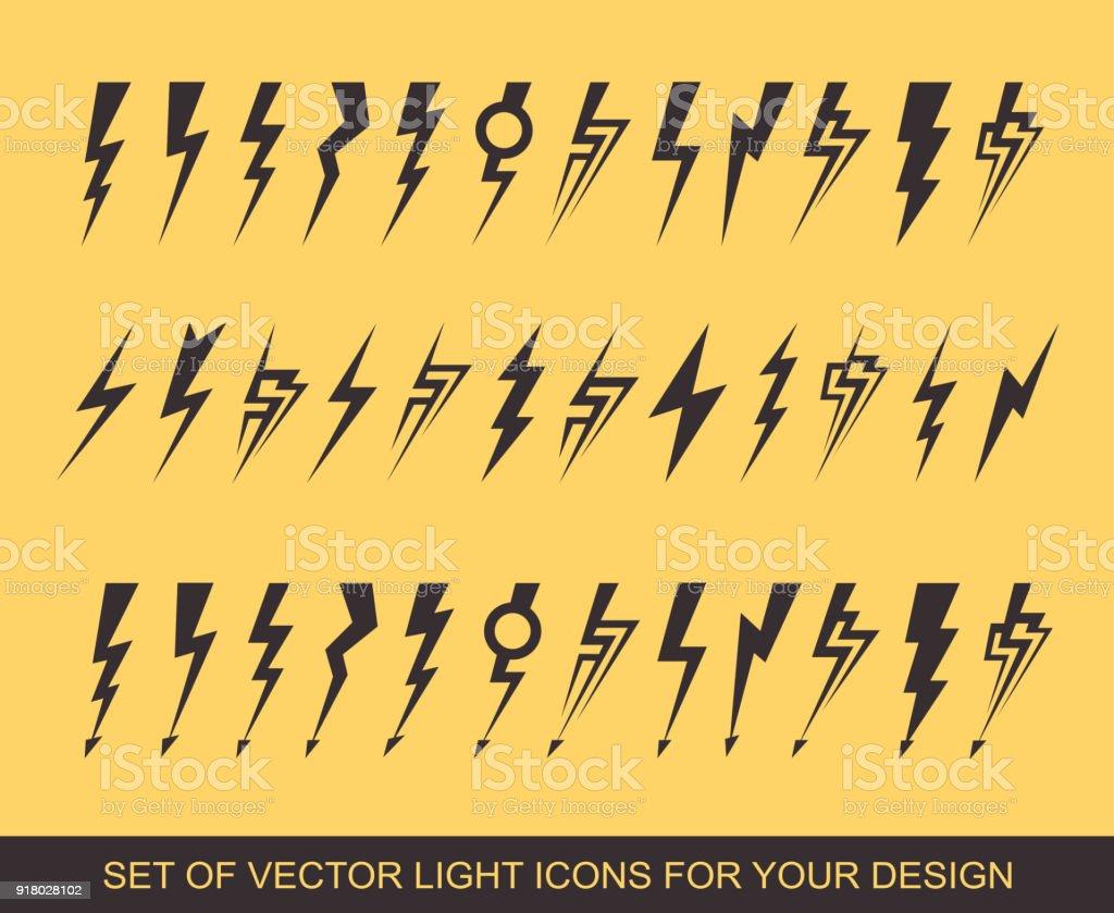 Lightning Electric Power Vector Design Element Energy And Thunder
