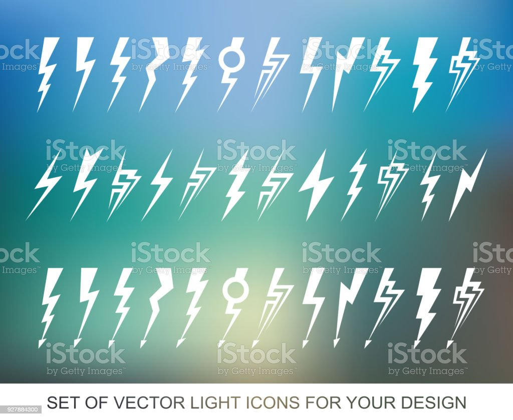 Lightning electric power vector design element energy and thunder lightning electric power vector design element energy and thunder electricity symbol concept light biocorpaavc Gallery