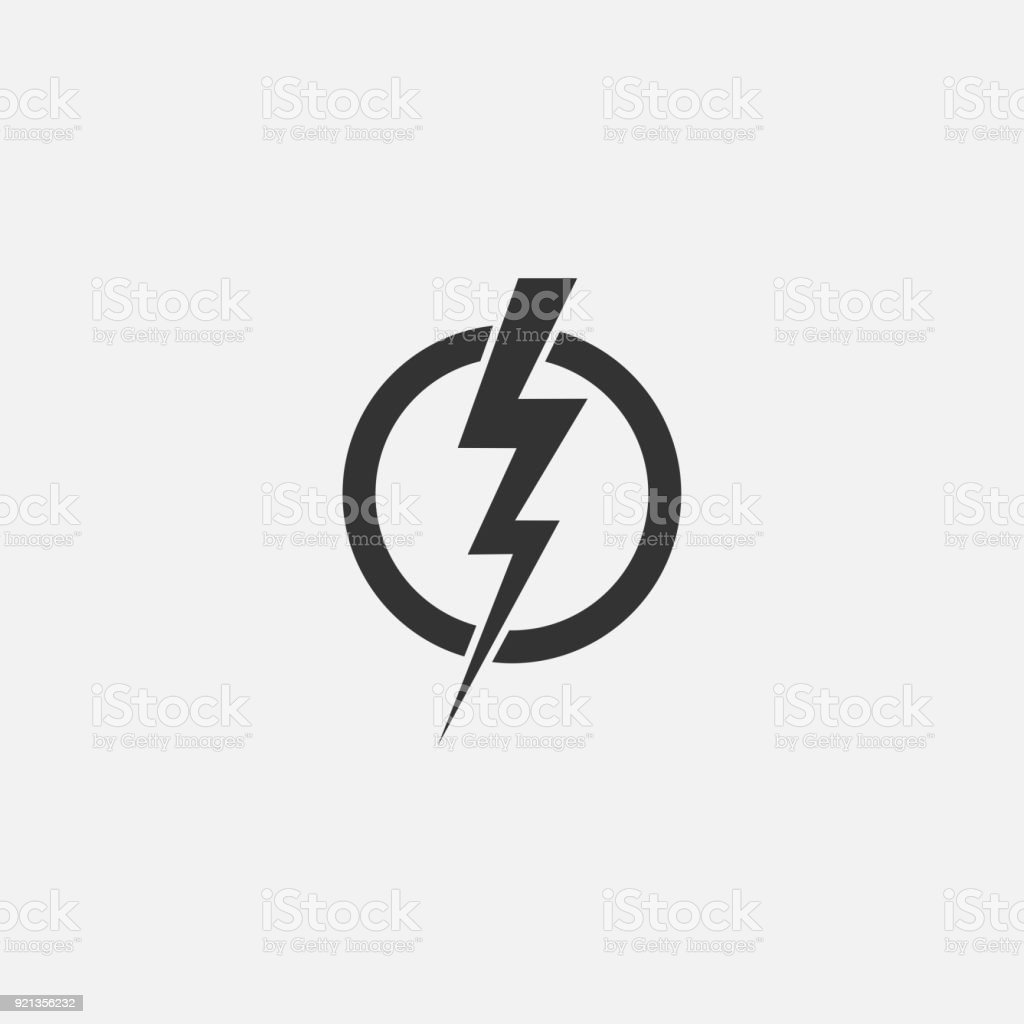 Lightning Electric Power Vector Icon Design Element Energy And ...