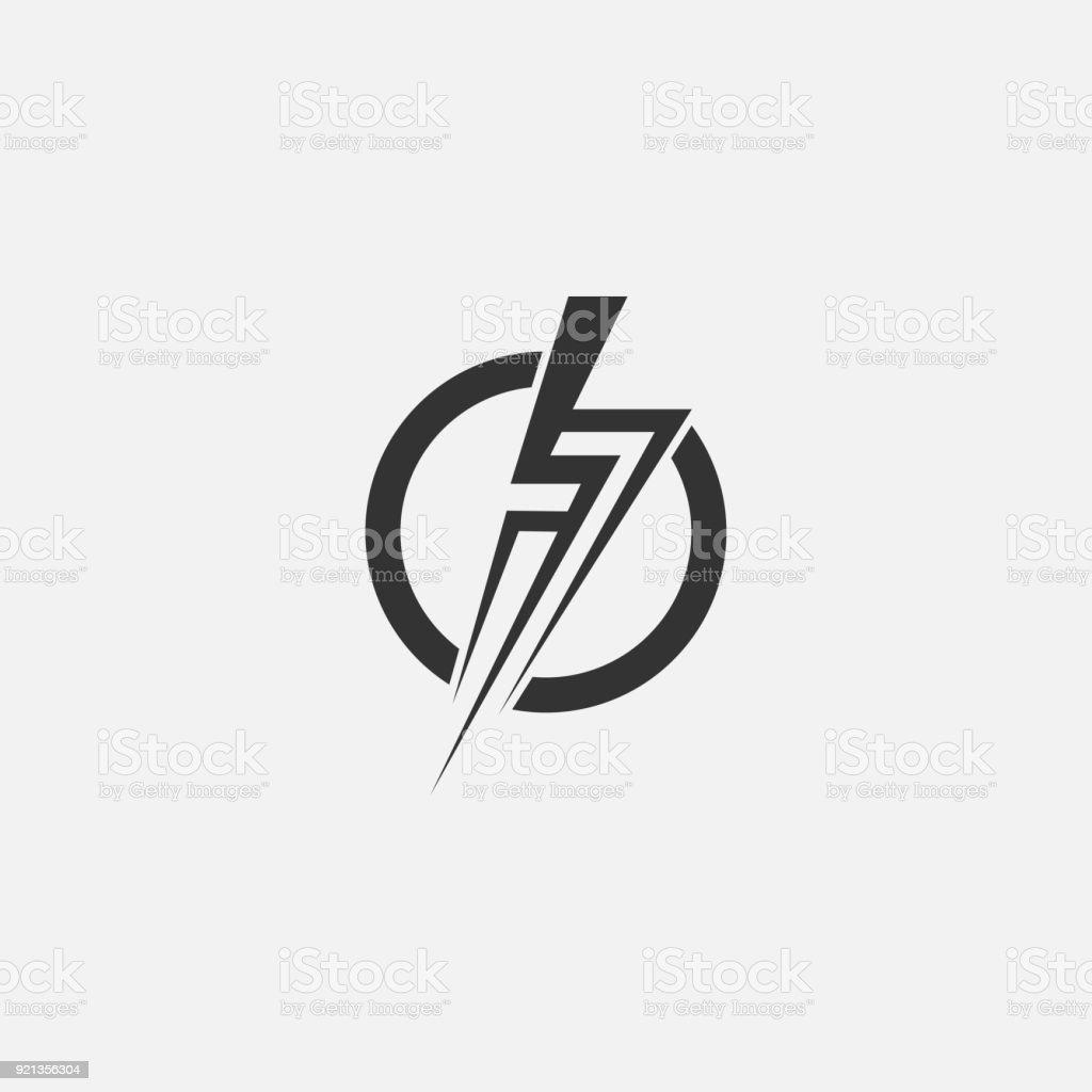 Blitz Elektrische Kraft Vektor Icon Designelement Energie Und Donner ...