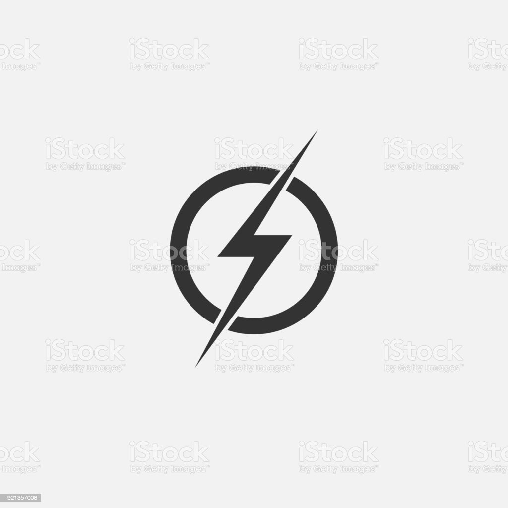 Lightning Electric Power Vector Icon Design Element Energy And ... for Lightning Logo In Circle  193tgx