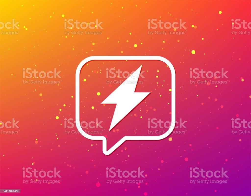 Blitzsymbol Die Elektrische Energie Power Unterschreiben Stock ...