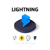 Lightning icon in different style