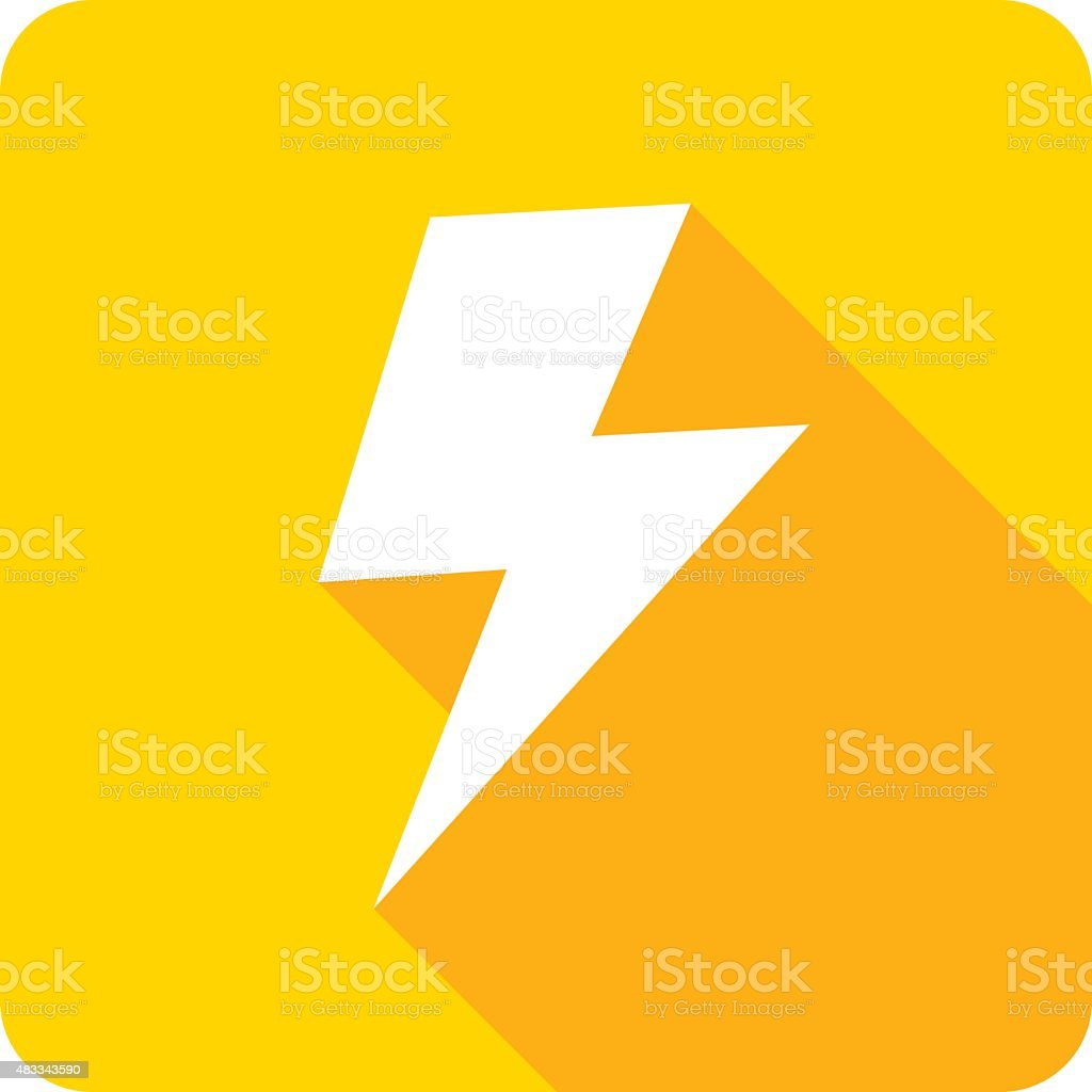 Lightning Icon Silhouette vector art illustration