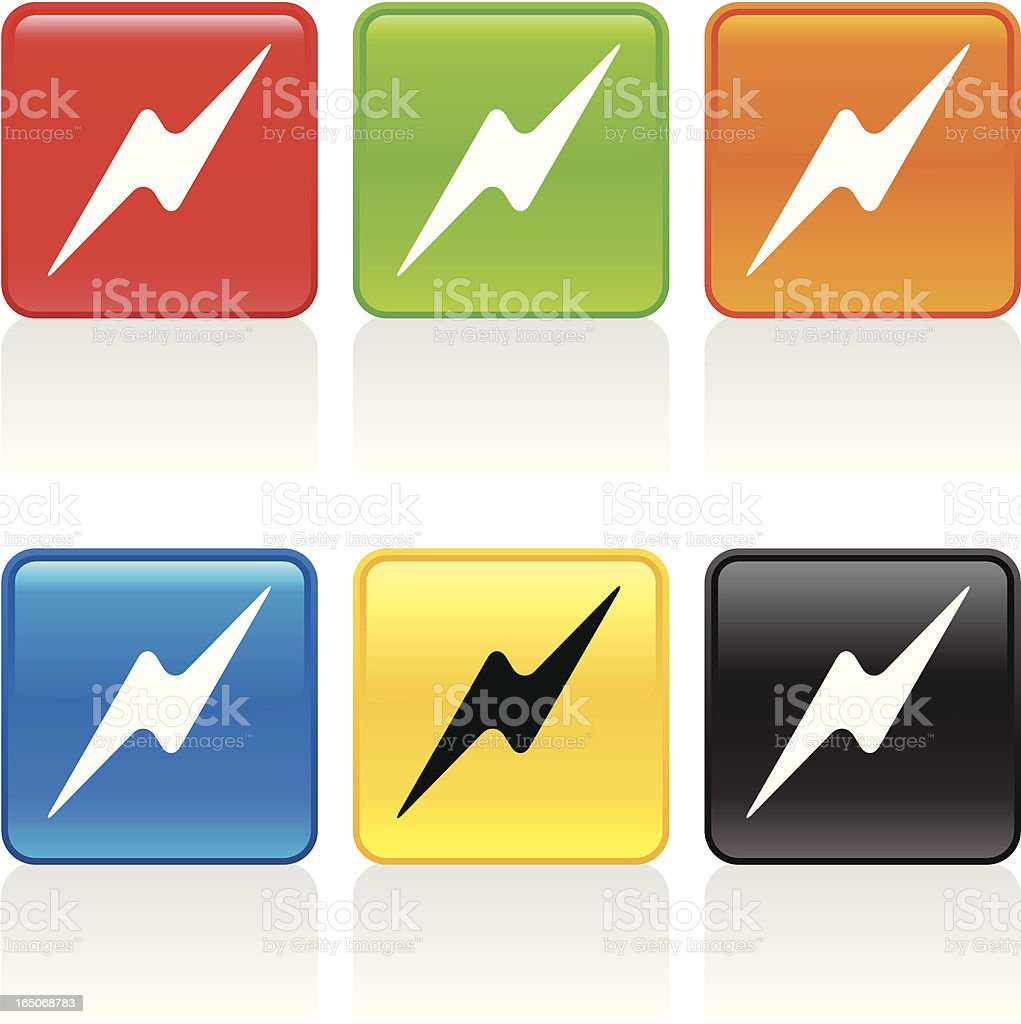 Lightning Icon royalty-free lightning icon stock vector art & more images of black color