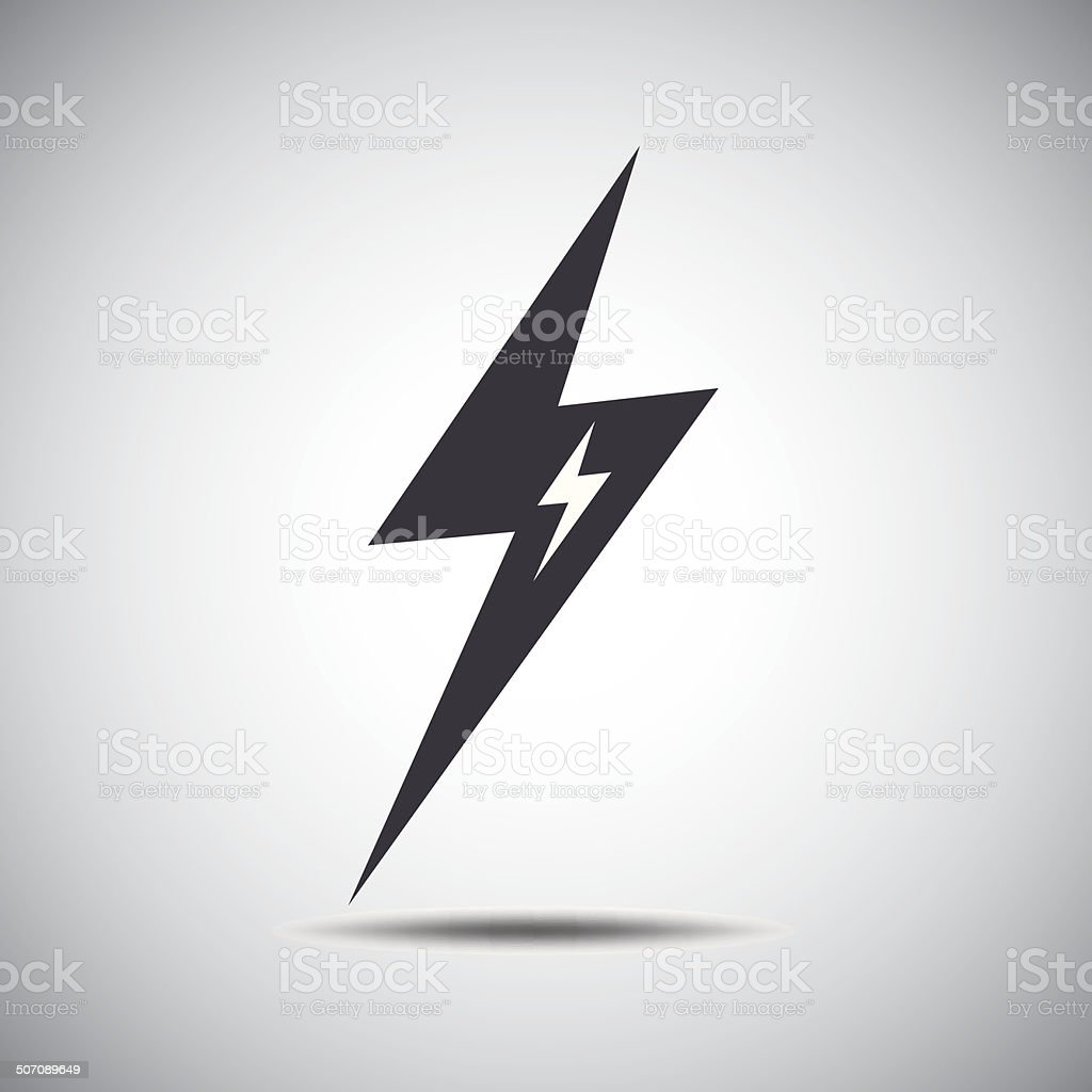 lightning icon royalty-free stock vector art