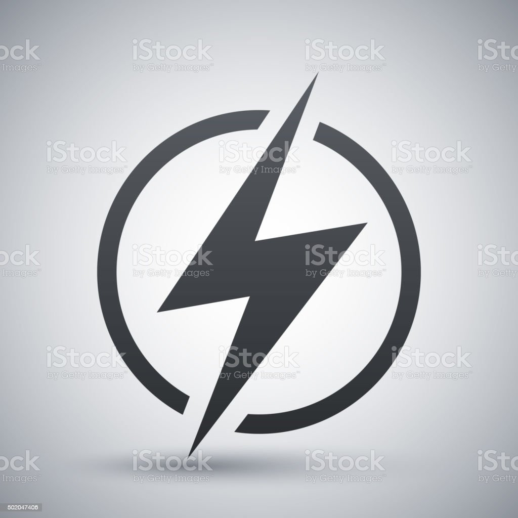 Lightning icon, vector vector art illustration