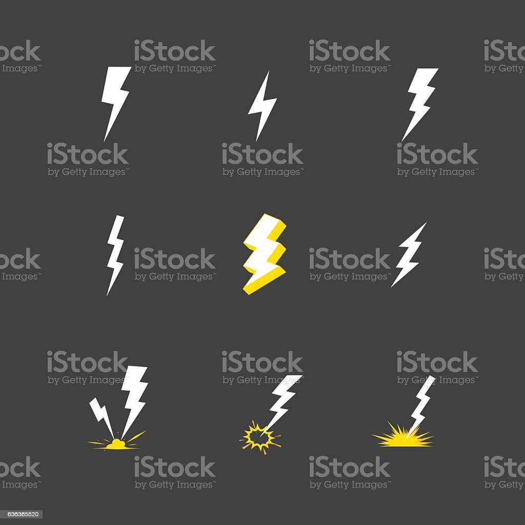 Lightning Icon Vector vector art illustration
