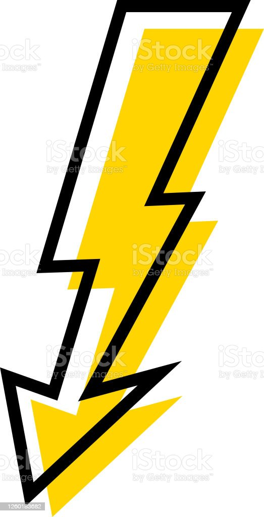 Lightning Icons Set Thunder And Bolt Flash Icon Lightning Bolt Black And Yellow Silhouette Vector Illustration Stock Illustration Download Image Now Istock