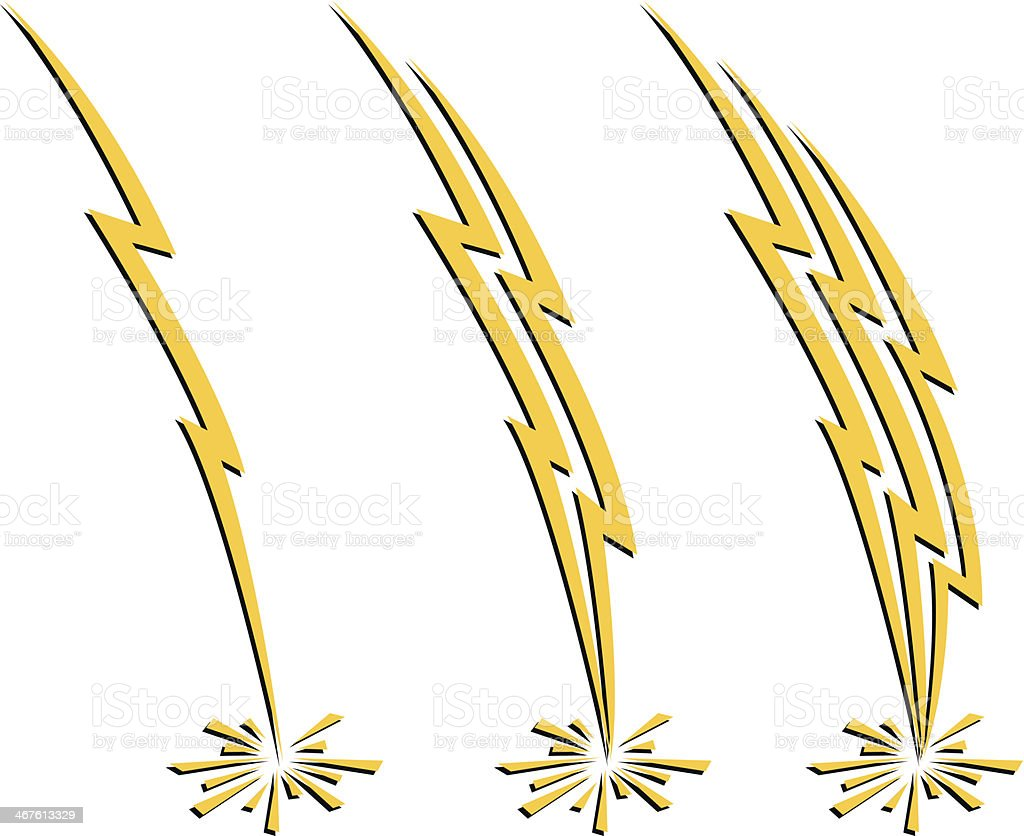 Lightning Icons vector art illustration