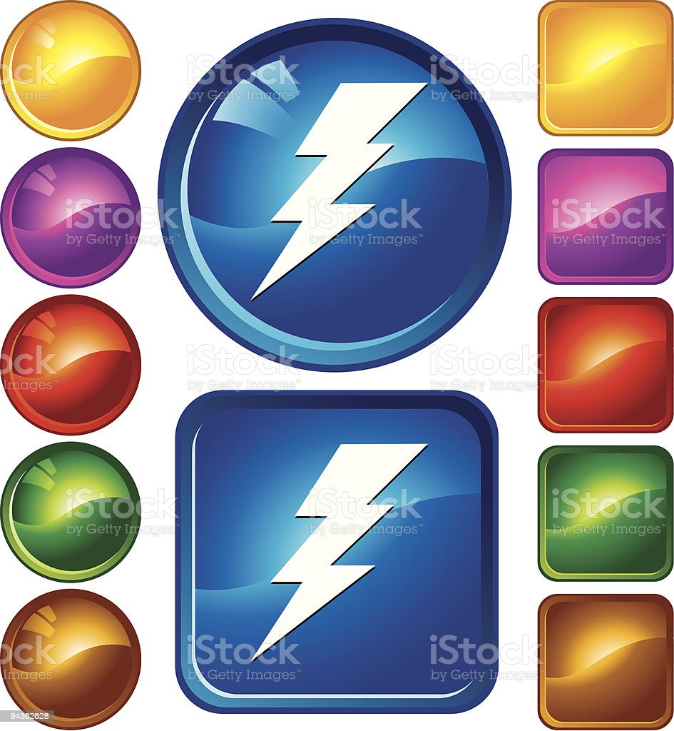 Lightning icons royalty-free stock vector art