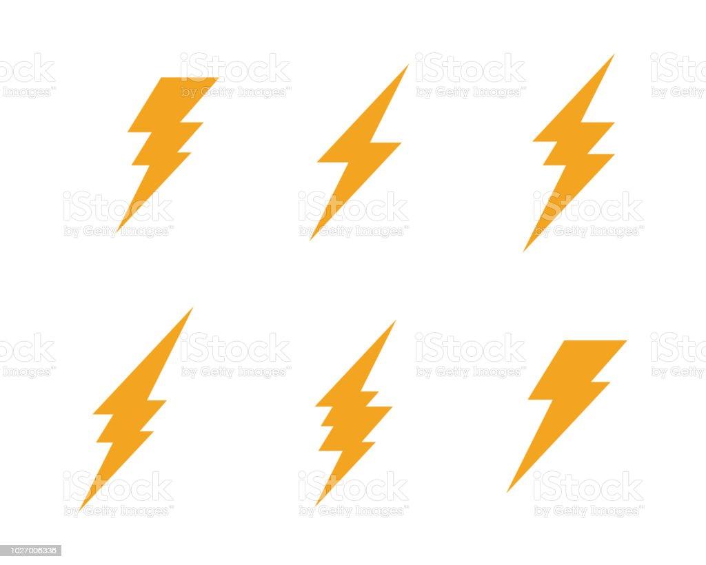 Lightning Logo Template Stock Illustration - Download Image