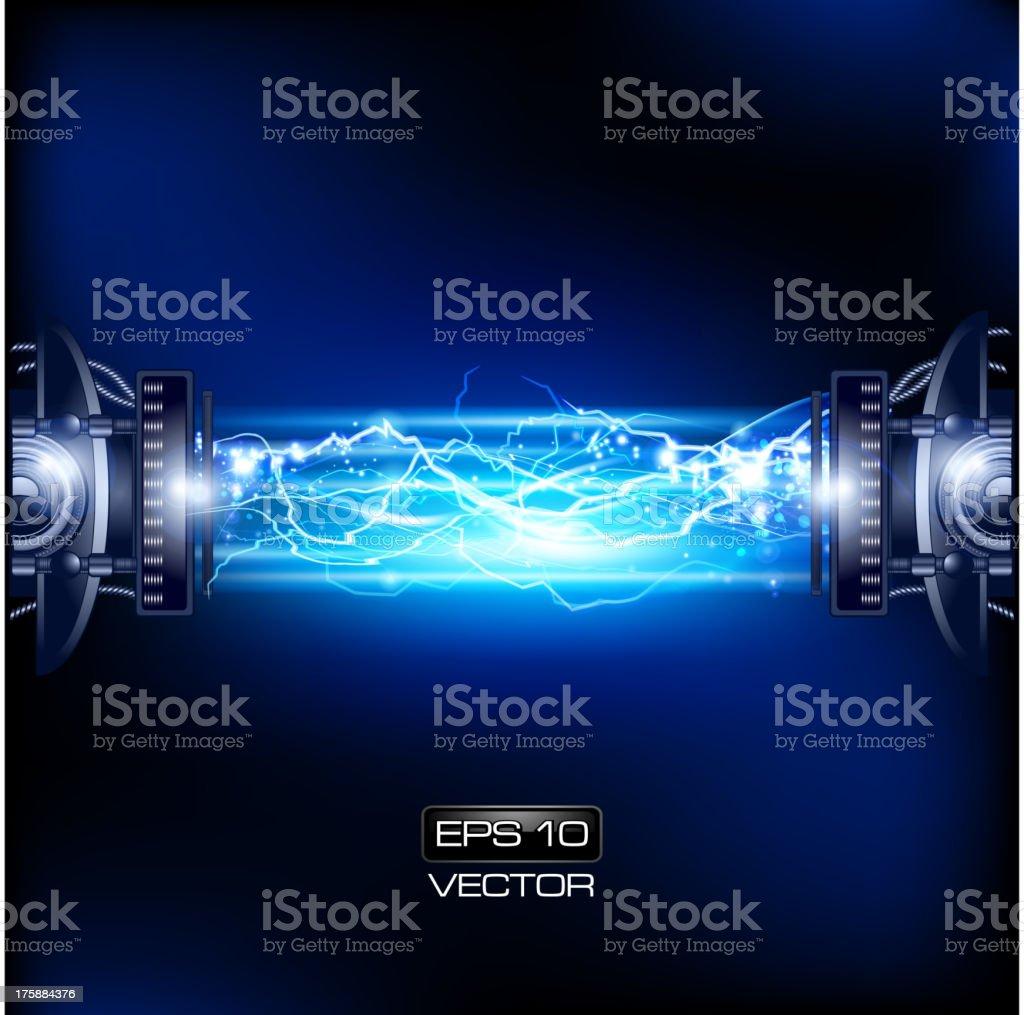 Lightning Mechanism vector art illustration