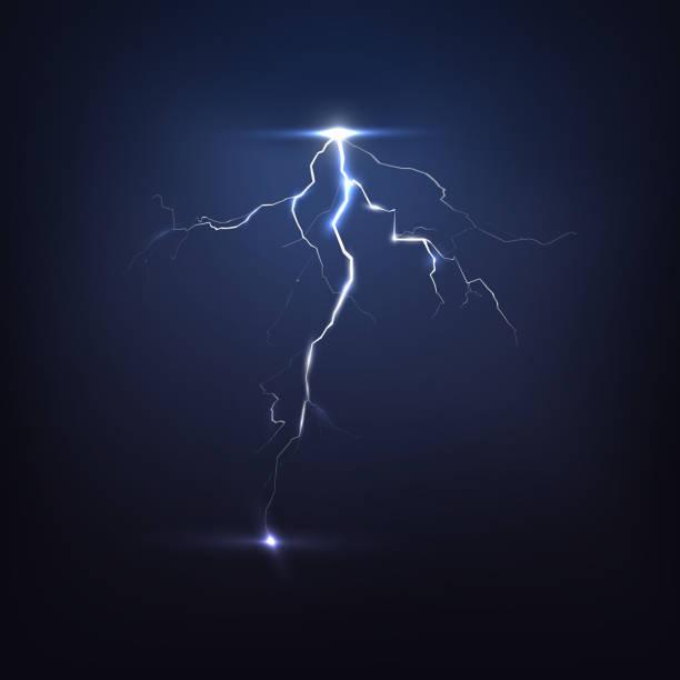 ilustrações de stock, clip art, desenhos animados e ícones de lightning on black, vector - greve