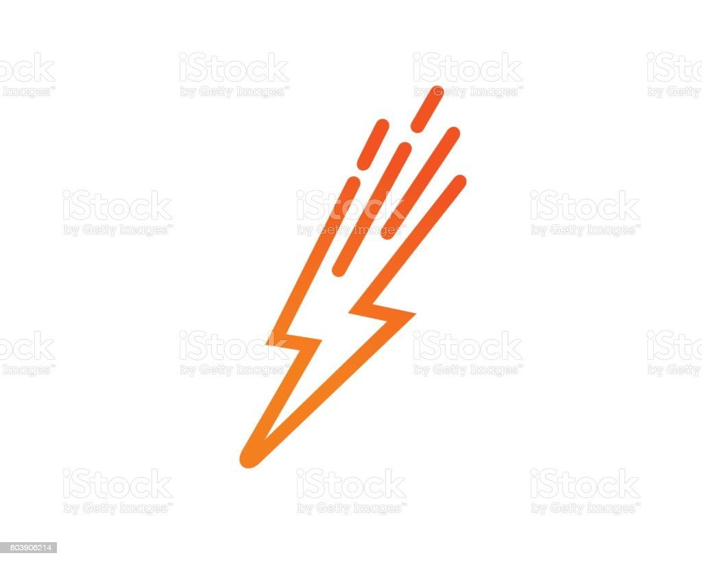 Lightning Power Symbol Template Design Vector, Emblem, Design Concept, Creative Symbol, Icon - illustrazione arte vettoriale