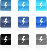 lightning royalty free vector icon set
