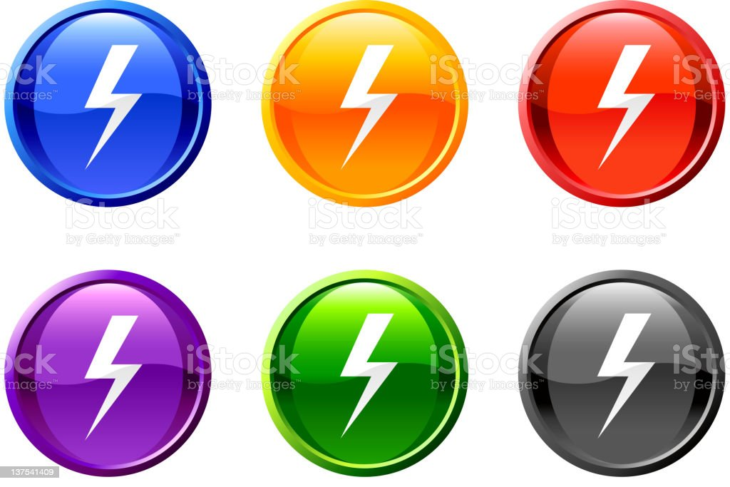 lightning royalty free vector icon set royalty-free stock vector art