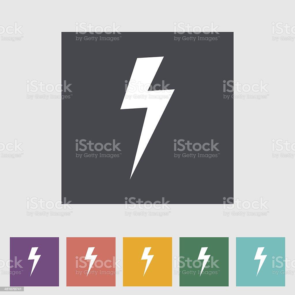 Lightning single flat icon. vector art illustration