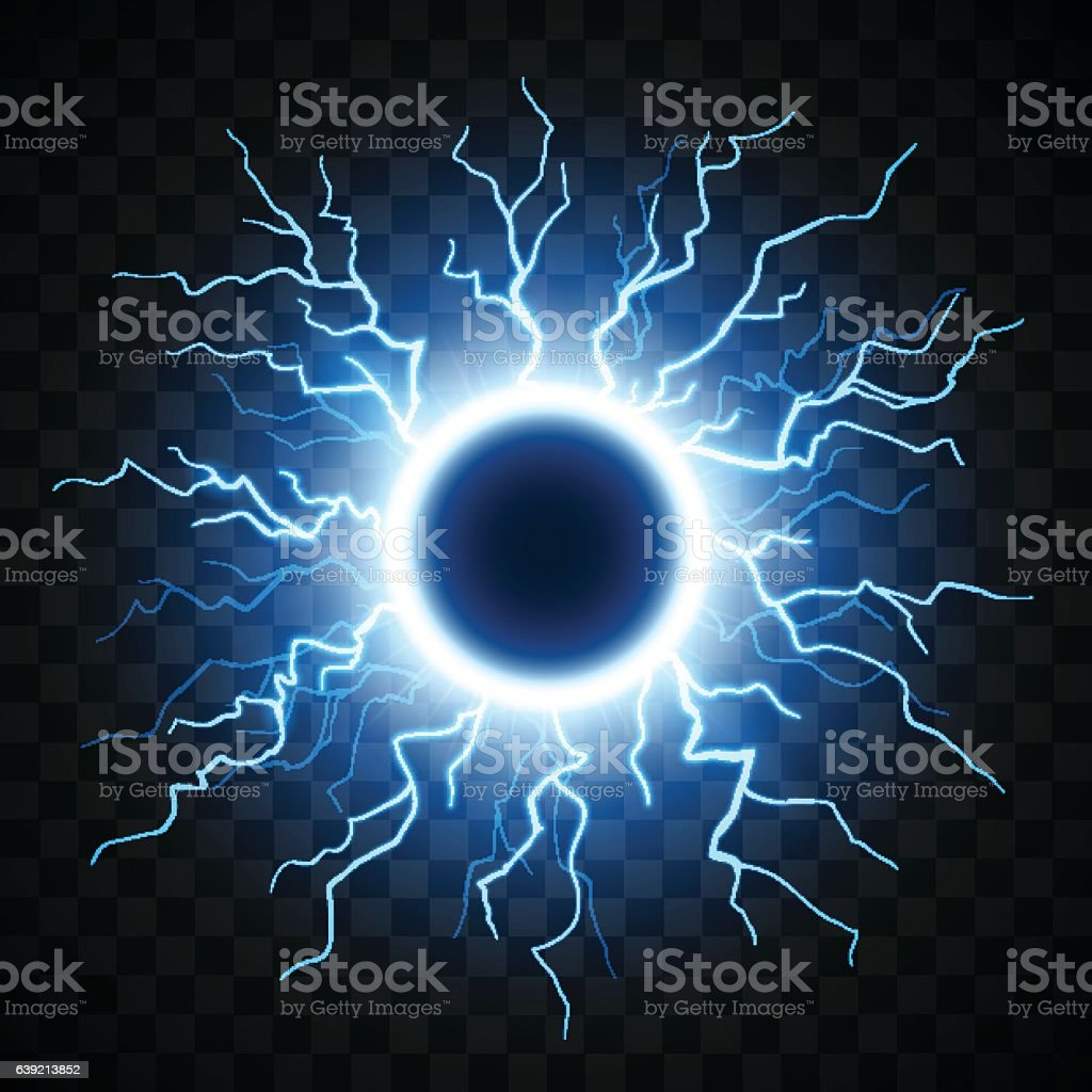 Lightning sphere illustration vector art illustration