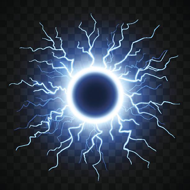 Lightning sphere illustration vector art illustration
