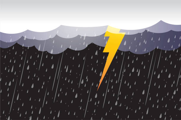 Lightning storm, clouds and storm,vector design Lightning storm, clouds and storm,vector design storm stock illustrations