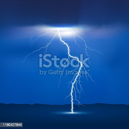 lightning from sky to earth design