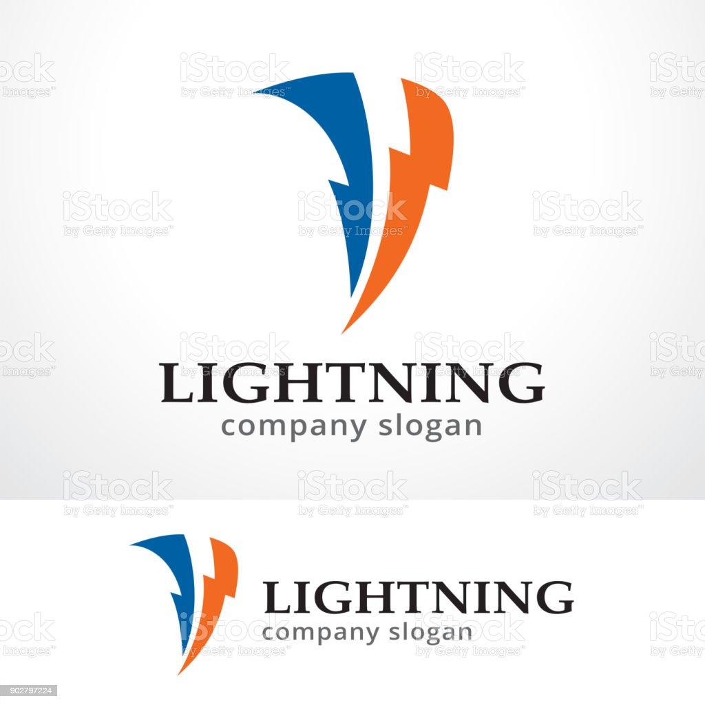 Lightning Symbol Template Design Vector, Emblem, Design Concept, Creative Symbol, Icon - illustrazione arte vettoriale