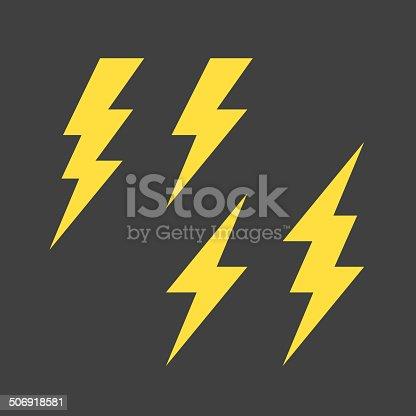 istock Lightning symbols set 506918581