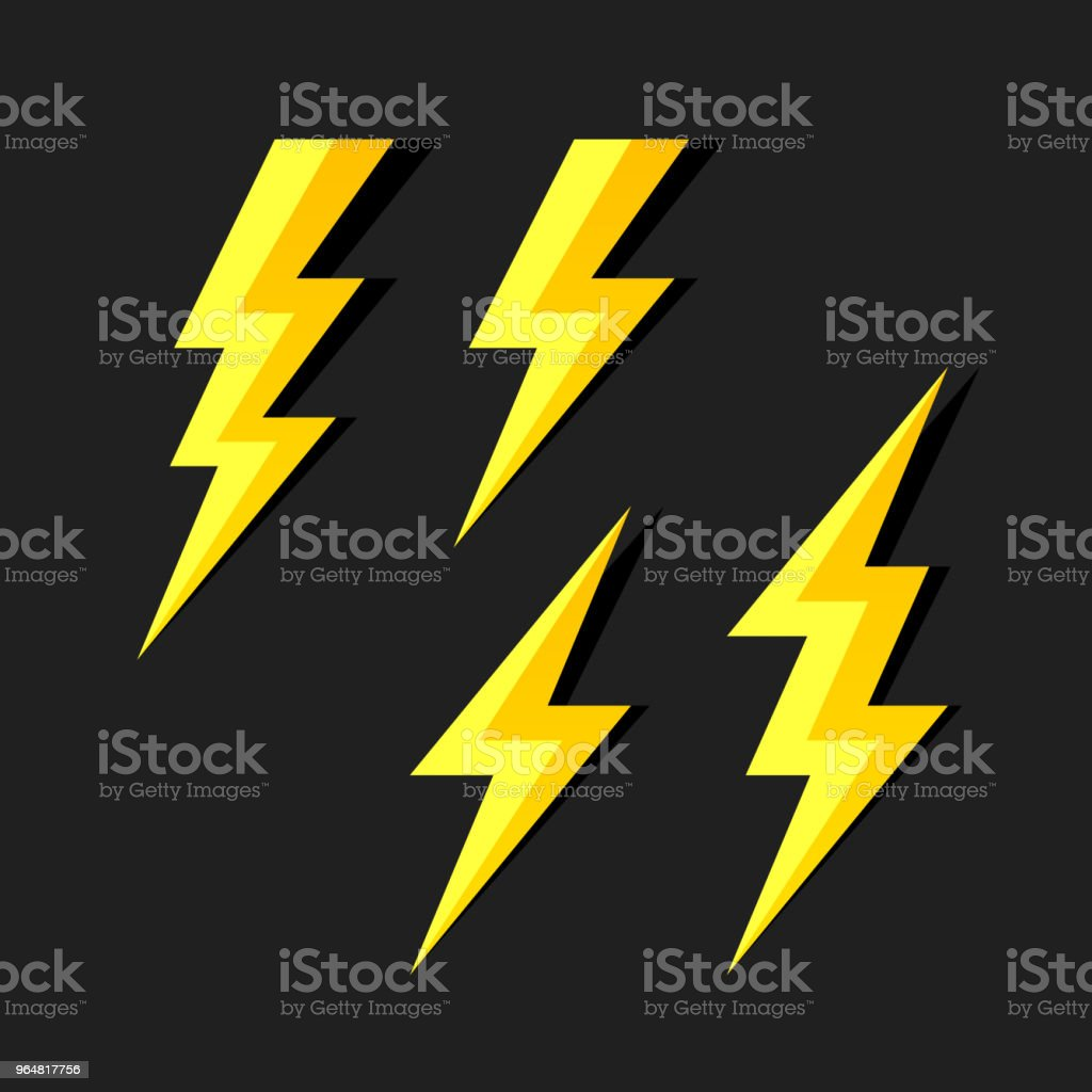 Lightning symbols royalty-free lightning symbols stock vector art & more images of abstract