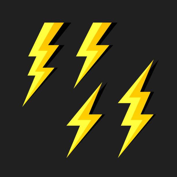 Lightning symbols Lightning symbols vector illustration forked lightning stock illustrations