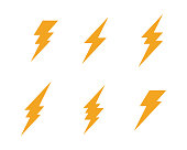Lightning   Template vector icon illustration design