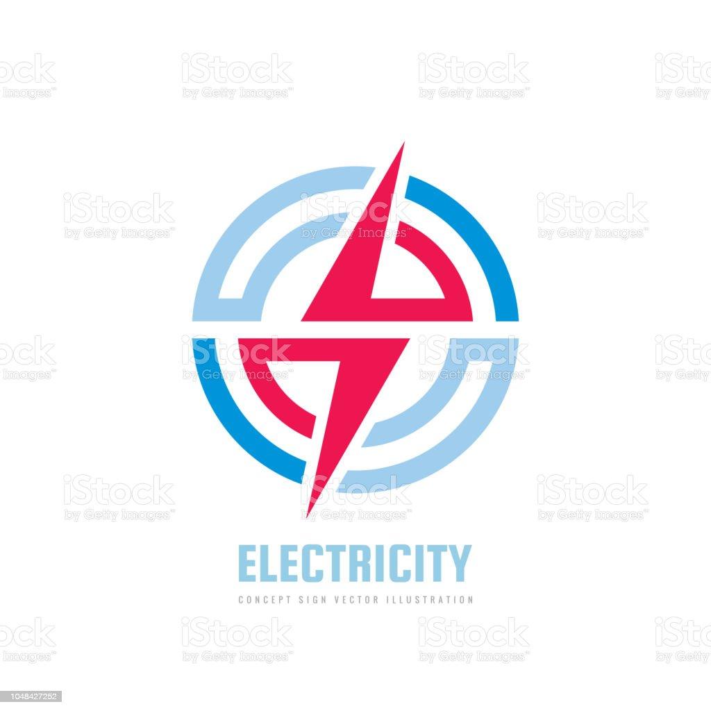 lightning vector business sign template concept illustration