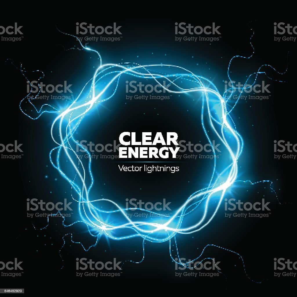 Lightning vector frame vector art illustration