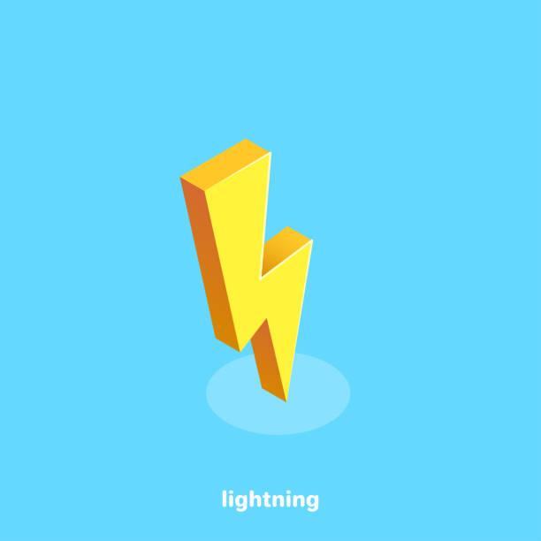 lightning vector art illustration