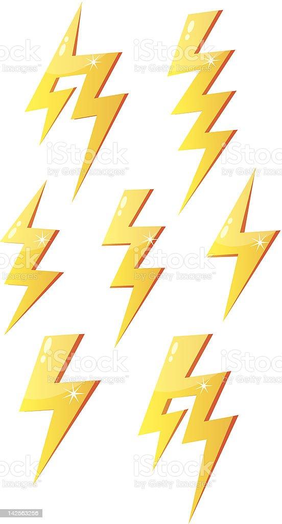 Lightning royalty-free stock vector art