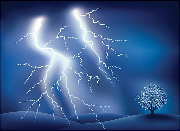 Lightning Lightning. Vector illustration done using Adobe Illustrator CS3. Vector-Based Illustration. High Resolution JPG and Illustrator 0.8 EPS included. forked lightning stock illustrations