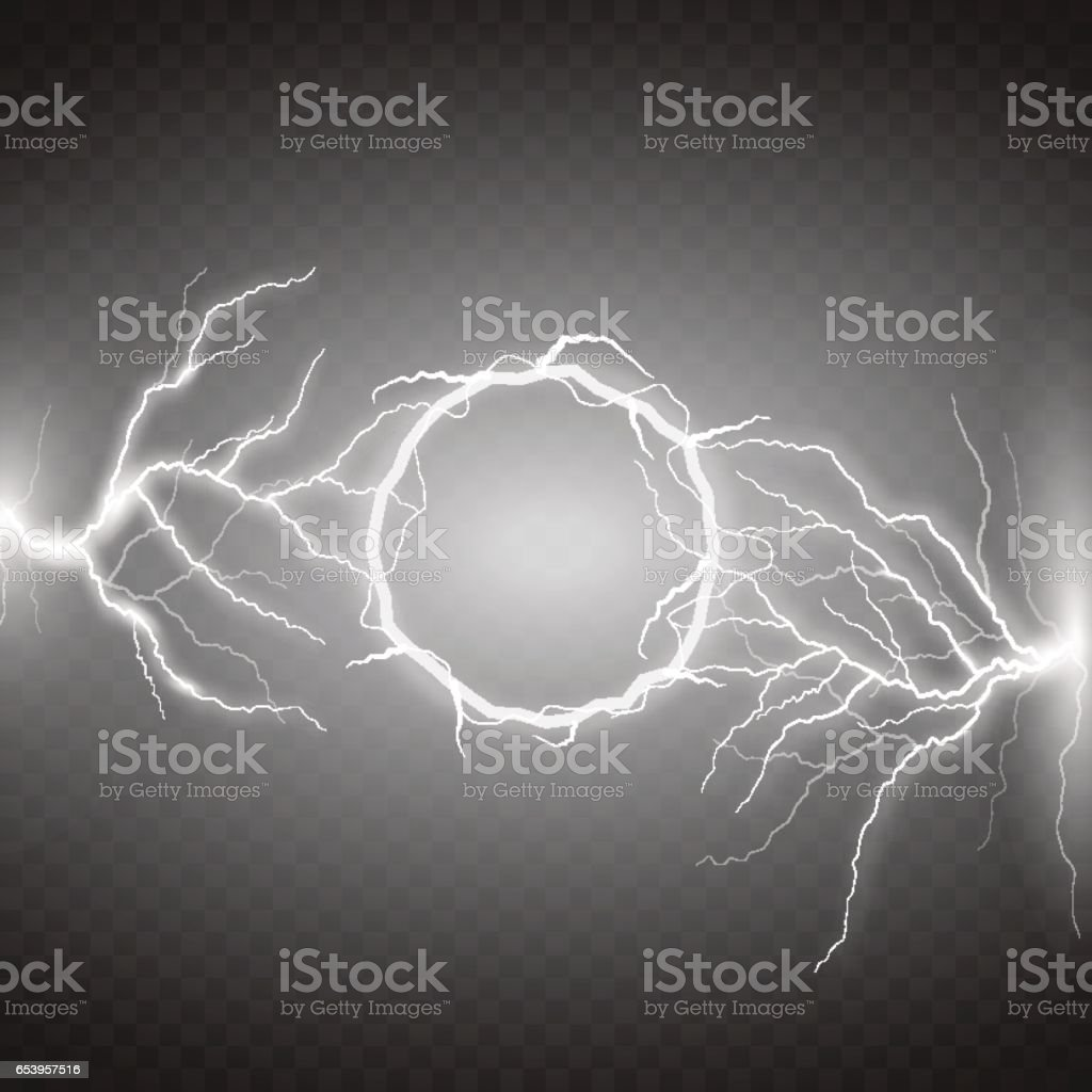 Lightning Vector Round Text Frame On Transparent Background Royalty Free Stock Art