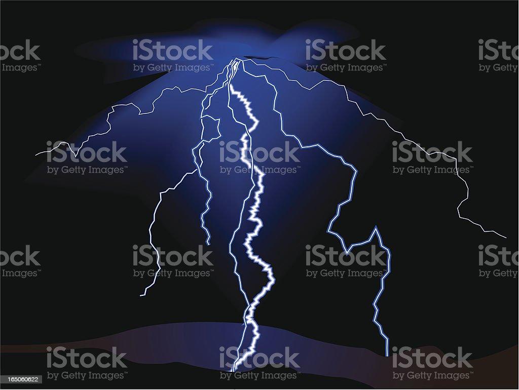 Lightning - VECTOR royalty-free stock vector art