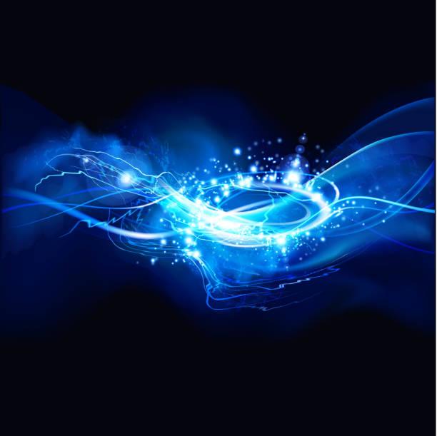 lightning vortex background vector art illustration