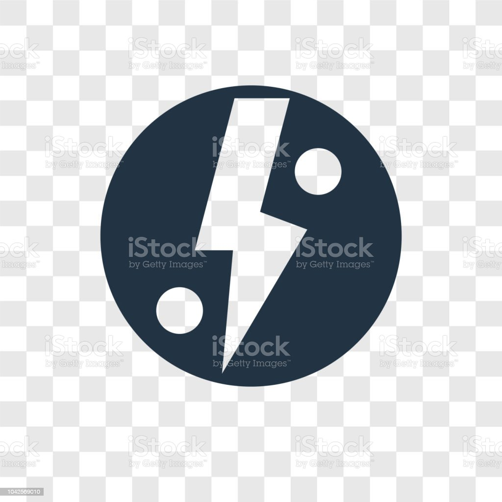 Lightning Warning Vector Icon Isolated On Transparent Background Transparency Logo Design Royalty