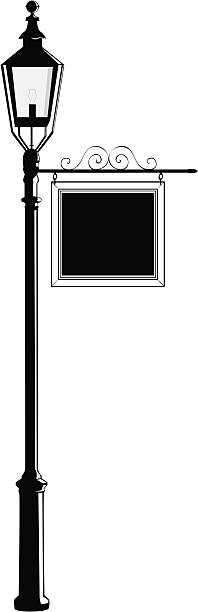 Lightpost vector art illustration