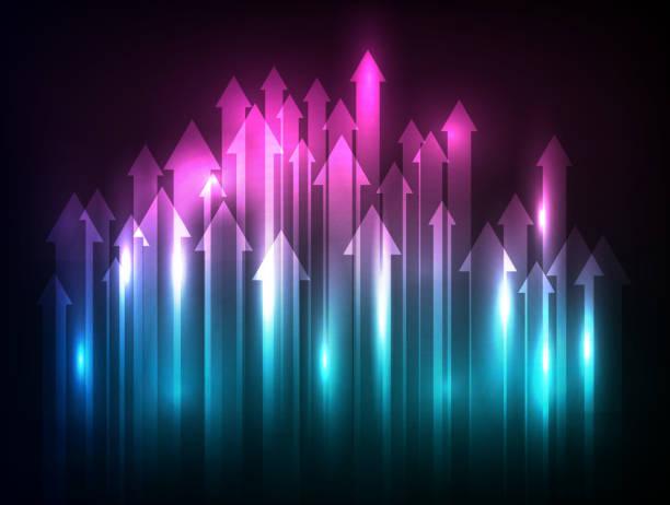 lights arrows upward vector art illustration