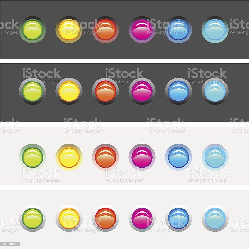LED Lights Raised & Countersunk Options vector art illustration